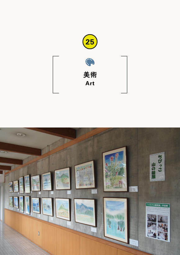Exhibition of pastel painting class